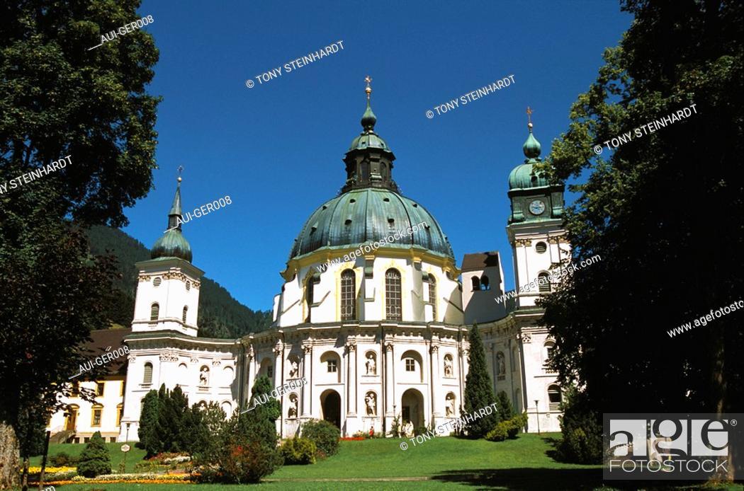 Stock Photo: Germany - Bavaria - Ettal's abbey.