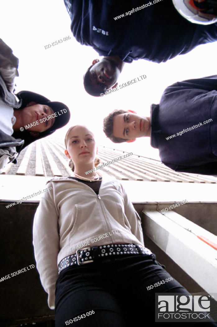 Stock Photo: Group of teenagers.