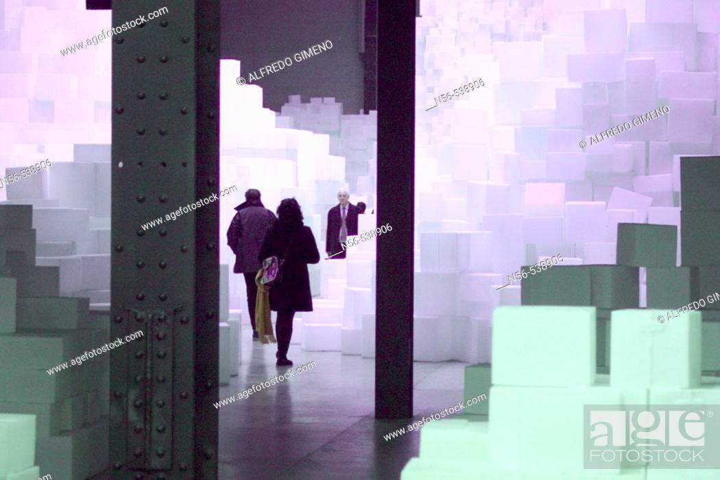 Stock Photo: Exhibition at the Tate Modern gallery. London. England.