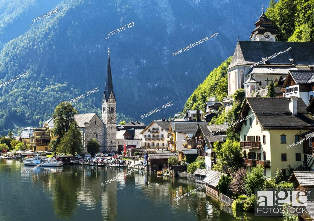 Stock Photo: Hallstatt, Upper Austria, Austria, Europe.