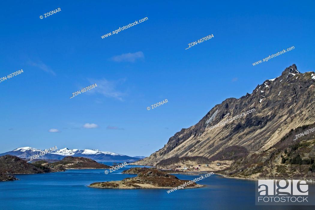 Stock Photo: Hadselfjorden.