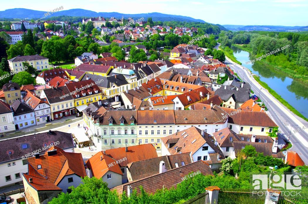 Stock Photo: View of Melk, Austria.