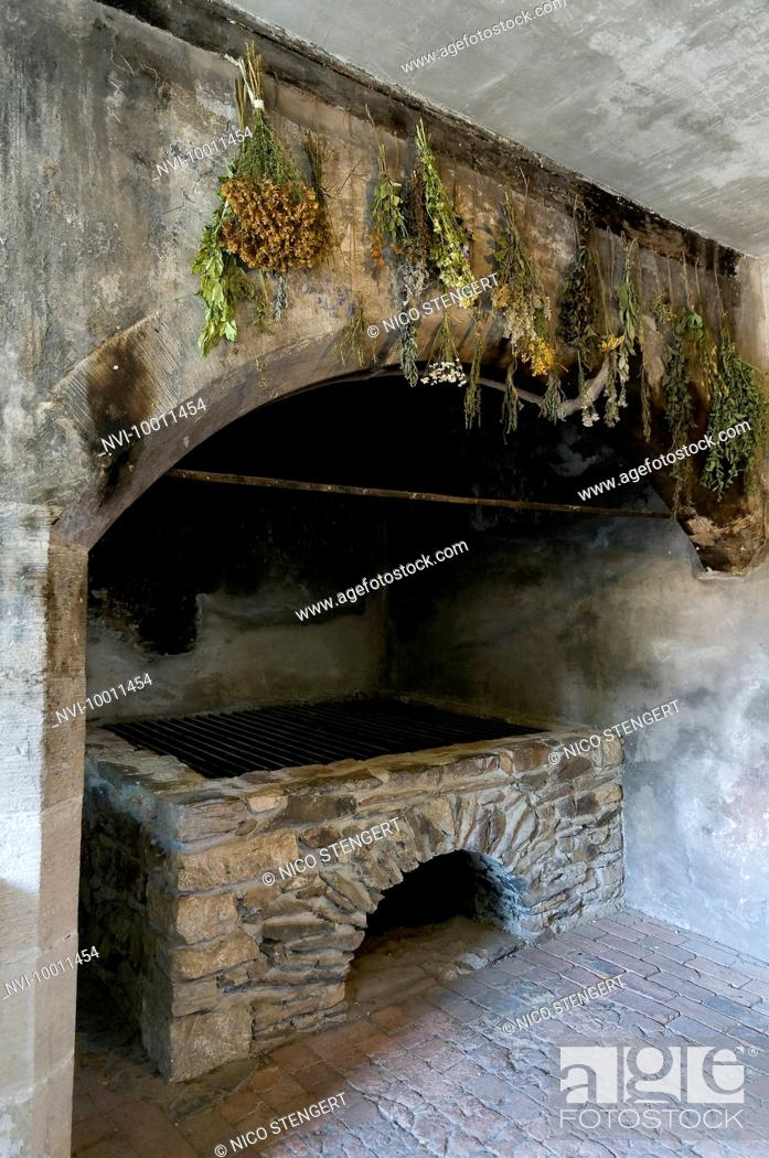 Medieval Castle Kitchen Ranis Thuringia Germany