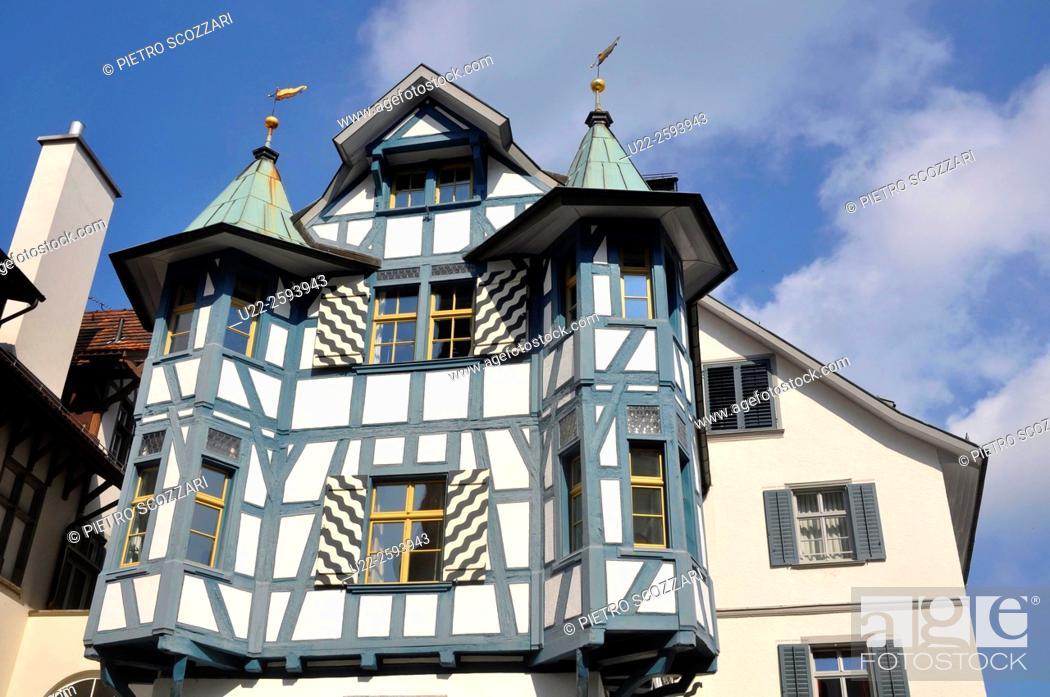 Stock Photo: Switzerland, St. Gallen, Sankt Gallen old town.