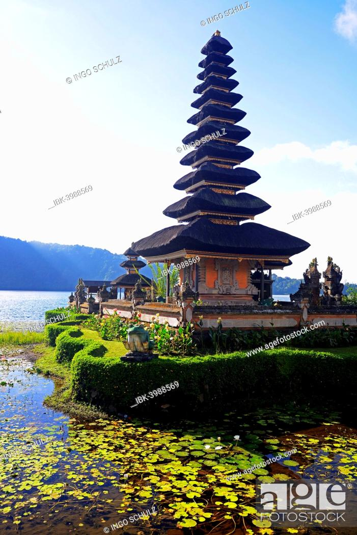 Pura Ulun Danu Bratan Temple Or Pura Bratan Temple In Lake Bratan