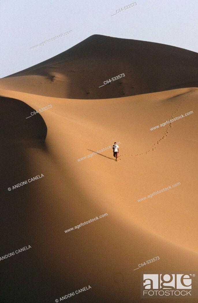 Stock Photo: Sahara desert.
