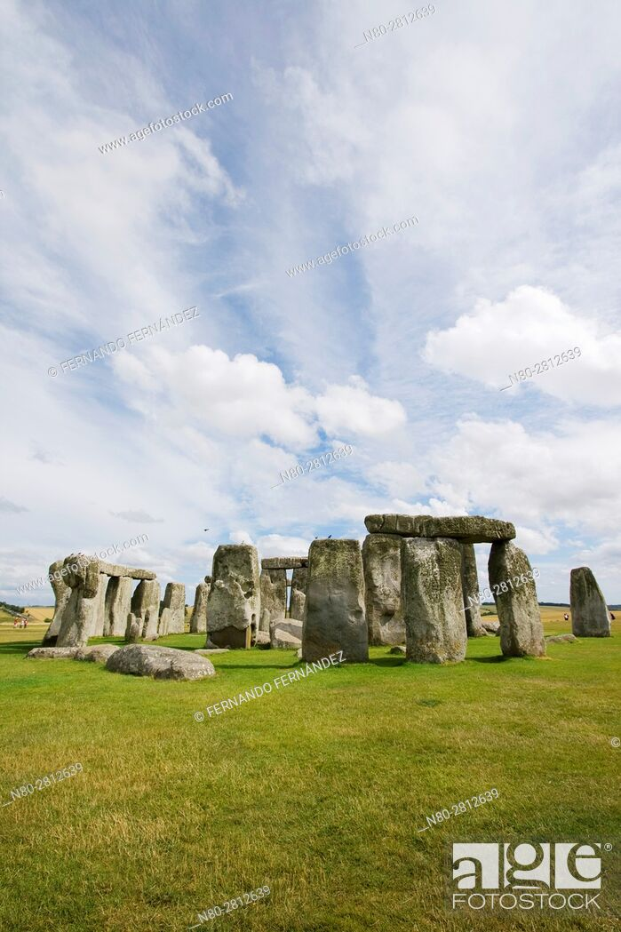 Stock Photo: Stonehenge. Neolithic and Bronze Age monuments. Wiltshire. England.