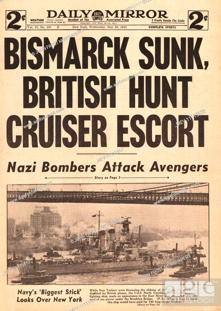 Image result for bismarck sunk