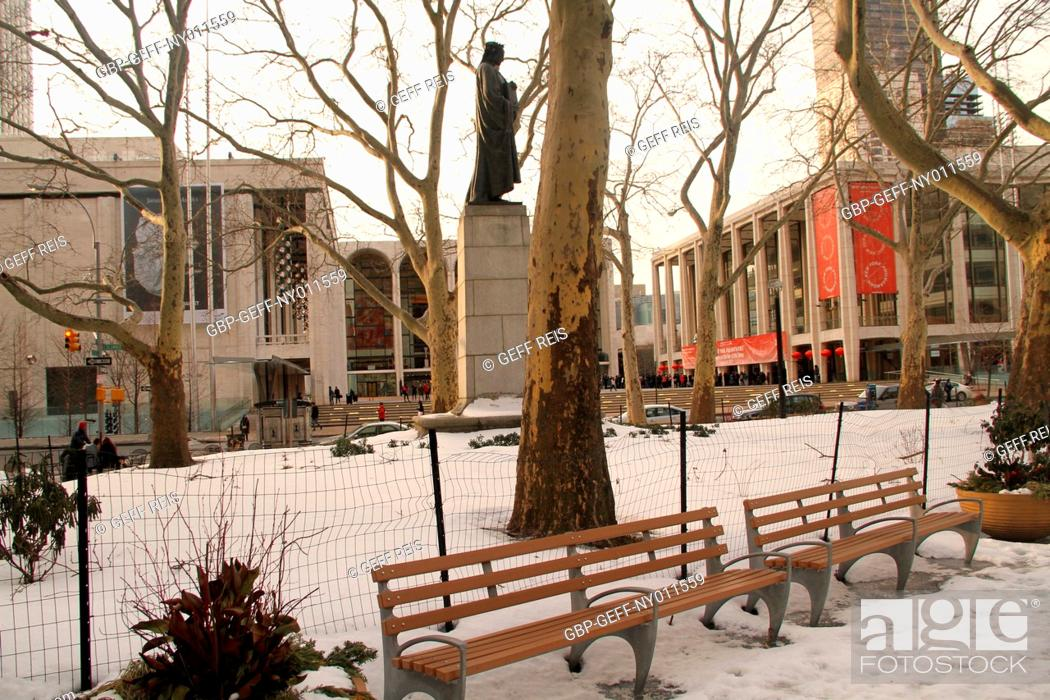 Stock Photo: Lincoln Center, Central Park, Manhattan, New York, United States.