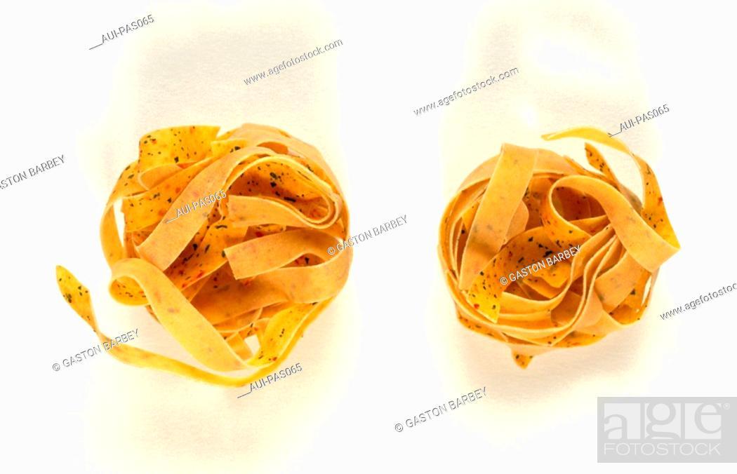 Stock Photo: Pasta - Pepperoni and Herbs Pasta.