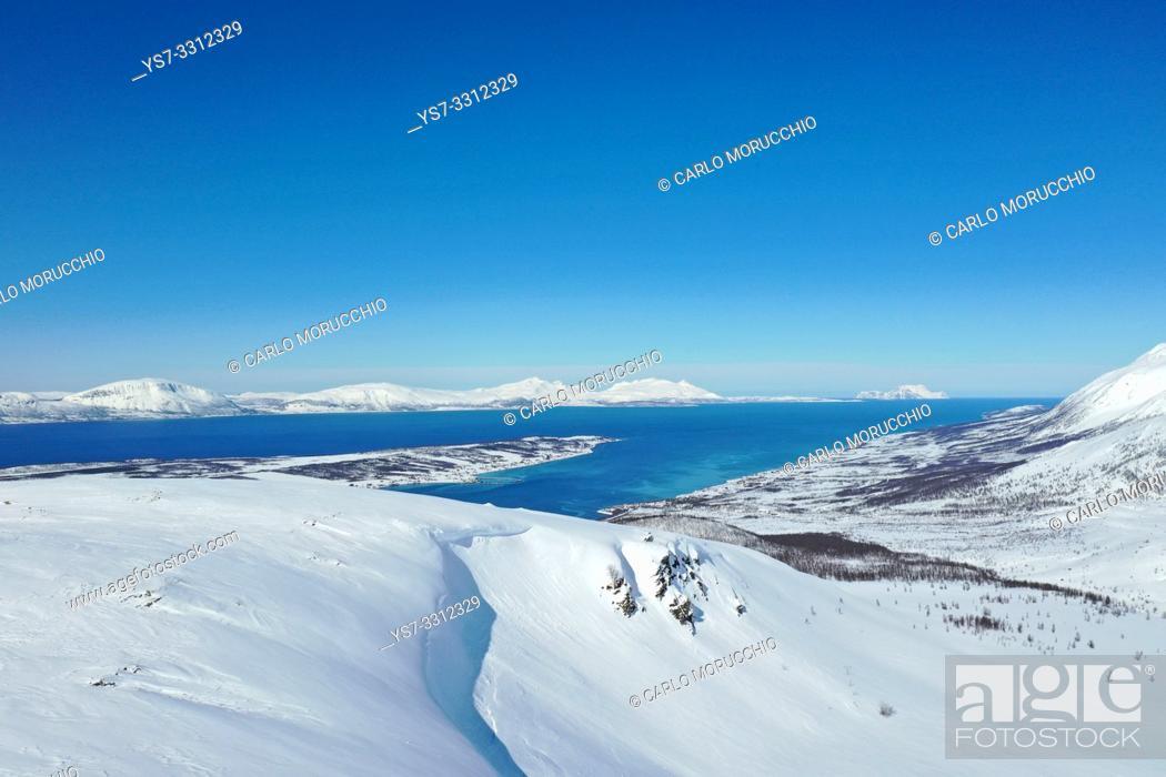 Stock Photo: Lyngen Alps, Nordlenangen, Lyngen peninsula, Troms county, Norway, Europe.