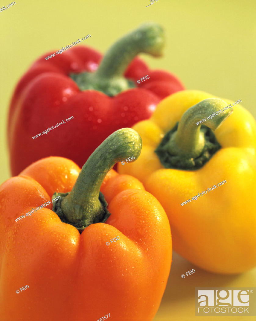 Stock Photo: Assorted Bell Peppers with different Colors.