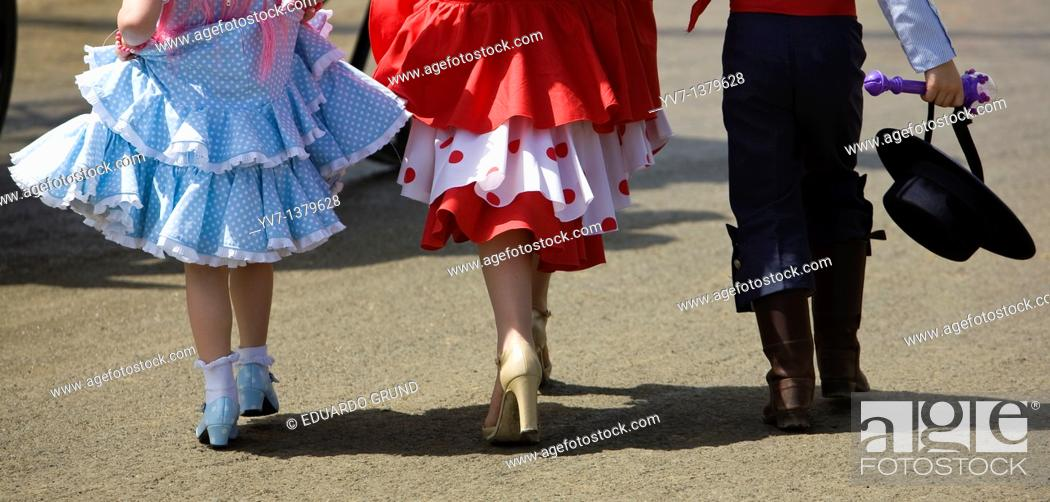 Stock Photo: Seville Fair, Andalusia, Spain.