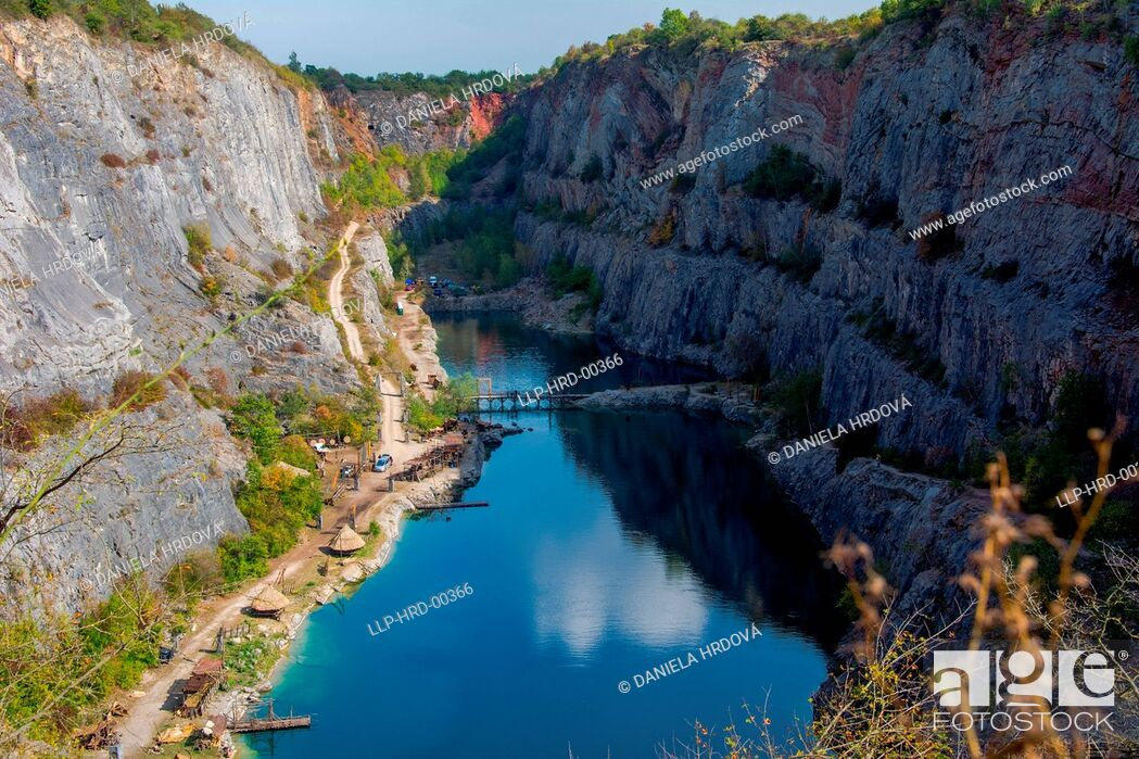 "Stock Photo: Quarry ""Velka Amerika"". Czech Republic, Europe."
