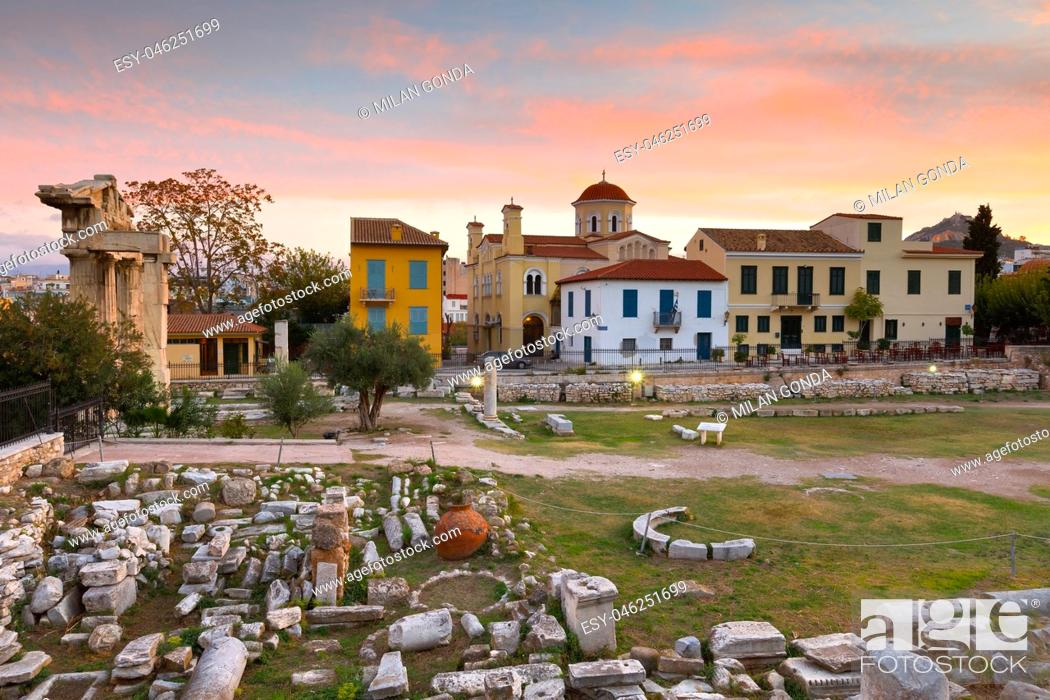 Stock Photo: Ancient ruins in city of Athens, Greece. .