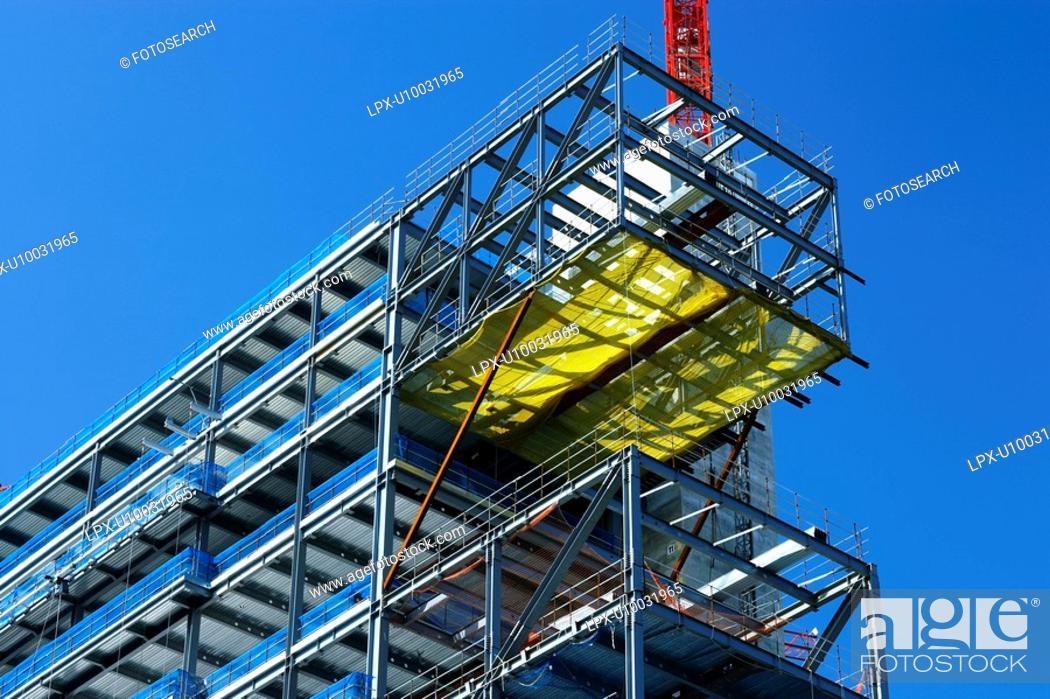 Stock Photo: Steel modular structure.