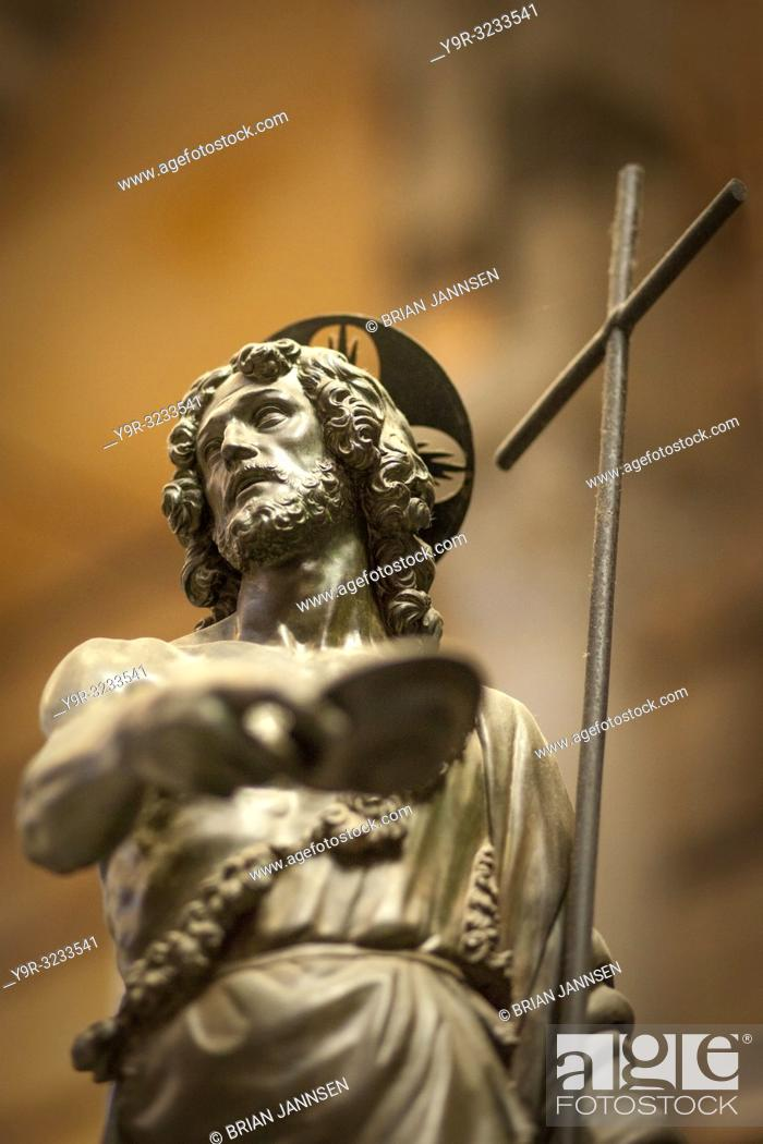 Stock Photo: Sculpture of Jesus inside Pisa Cathedral (Santa Maria Assunta), Pisa, Tuscany, Italy.