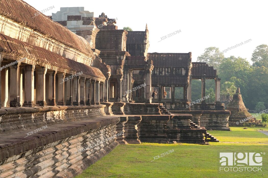 Stock Photo: Angkor Wat Temple complex UNESCO World Heritage Site, Angkor, Siem Reap, Cambodia, Indochina, Southeast Asia, Asia.