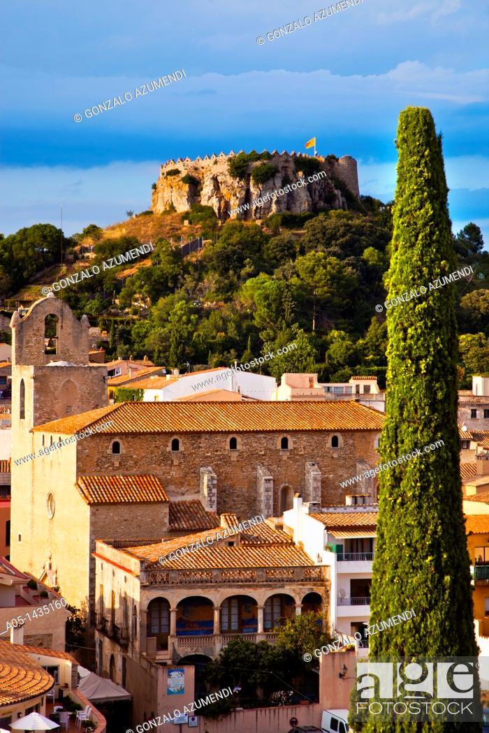 Stock Photo: Begur, Baix Empordá, Costa Brava, Girona Province, Catalonia, Spain.