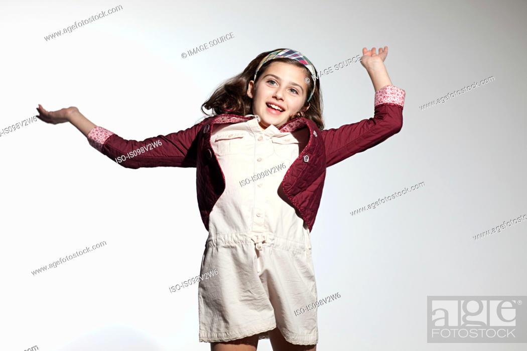 Stock Photo: Girl dancing.