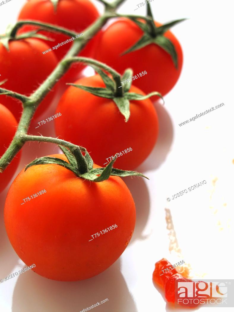 Stock Photo: Vine tomato marmalade.
