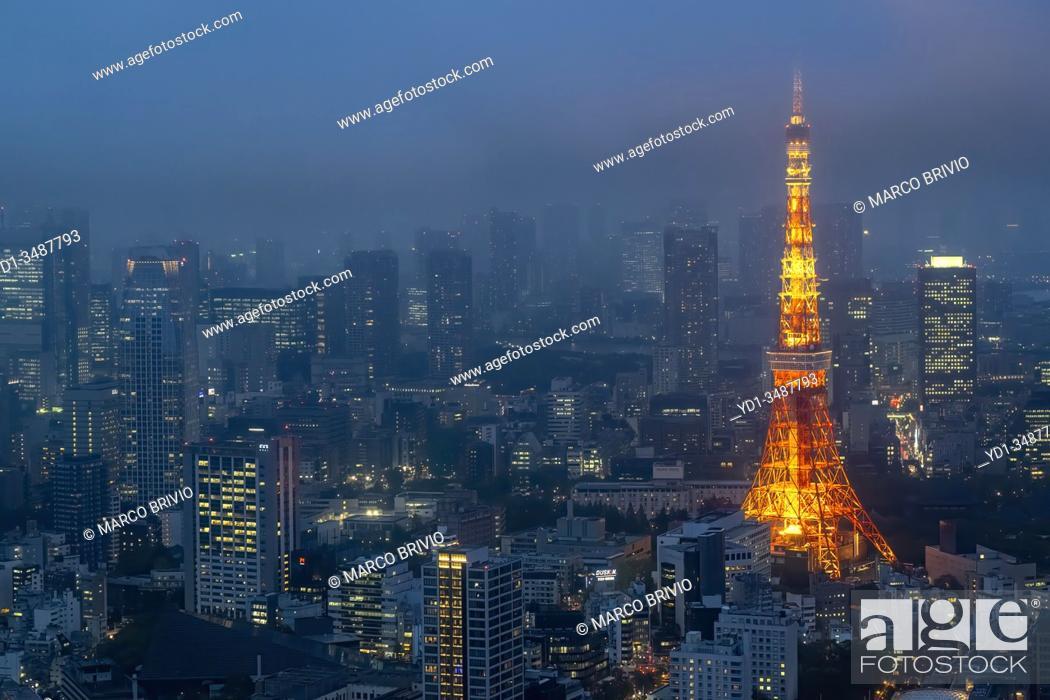 Imagen: Tokyo Japan. Aerial view of Tokyo Tower.