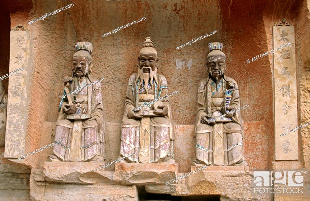 Stock Photo: Grottoes in Dazu, Chongqing, China.
