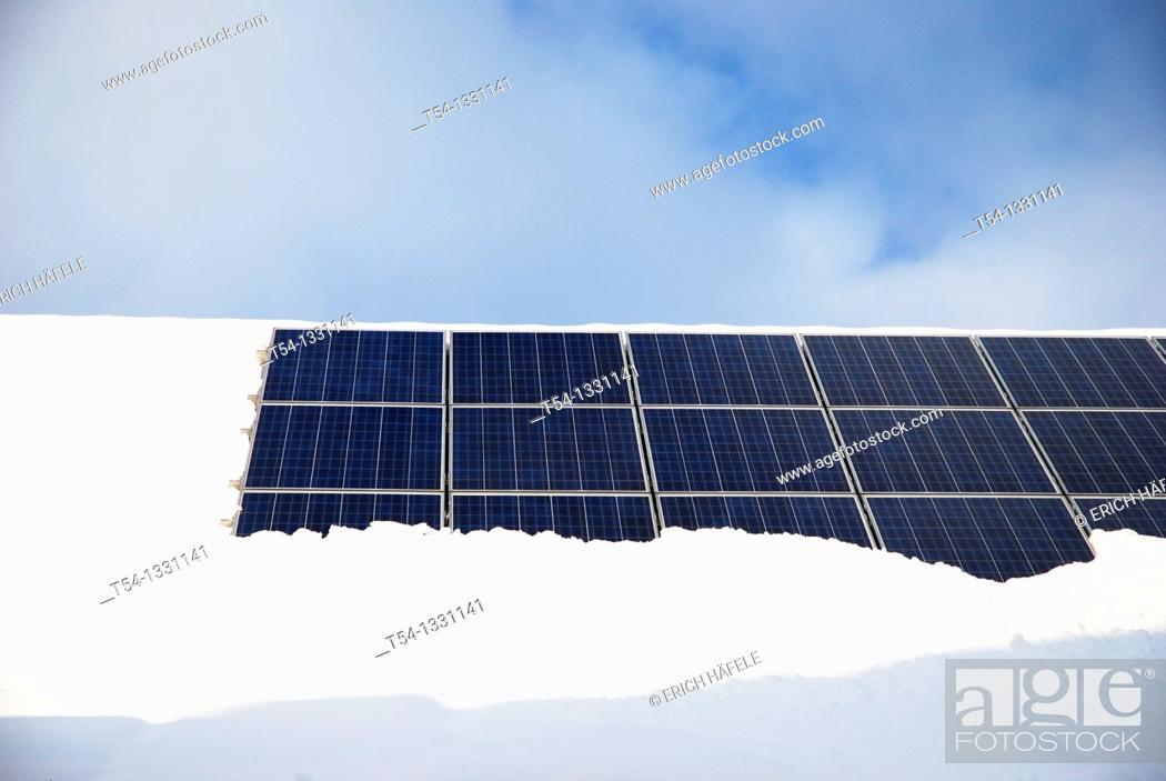 Stock Photo: Snow-capped solar system.