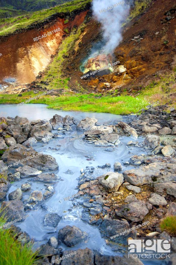 Stock Photo: Geothermal area, Nesjavellir, Iceland / mud springs, Hengill.