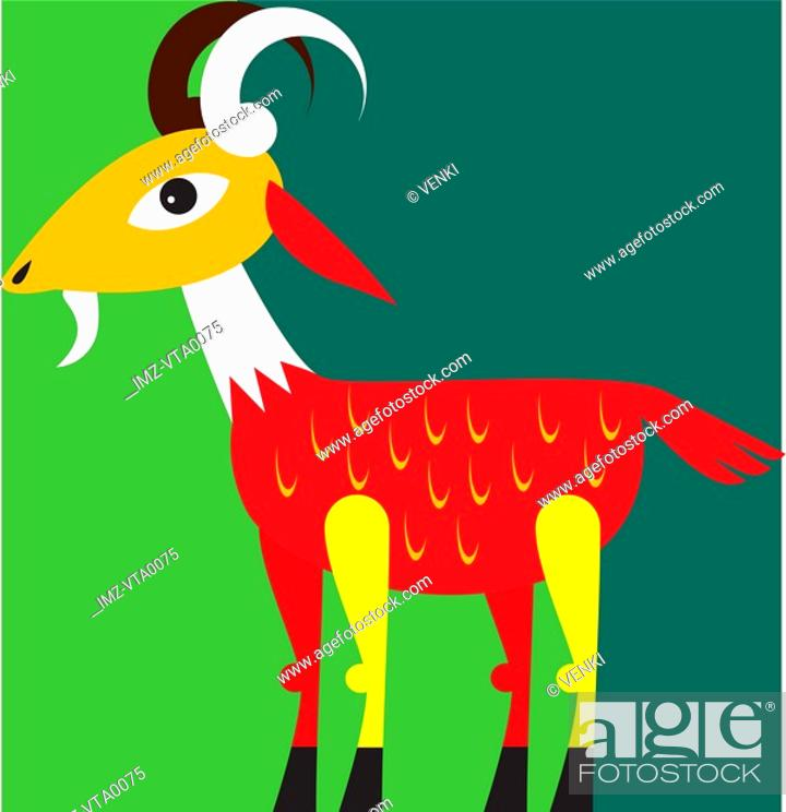 Stock Photo: An Aries ram.