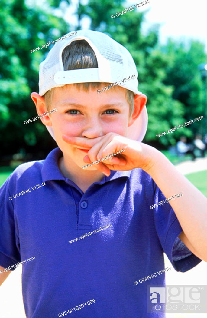 Stock Photo: Young boy smiling.