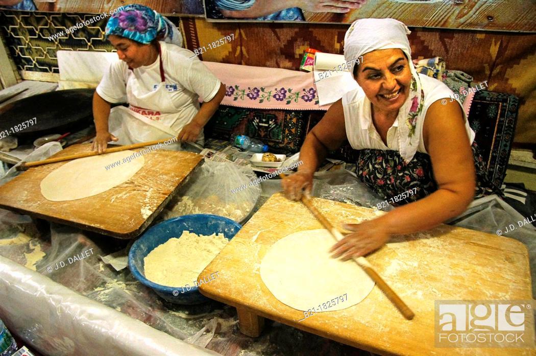 Stock Photo: Preparing 'böreks' at Antalya, Turkey.