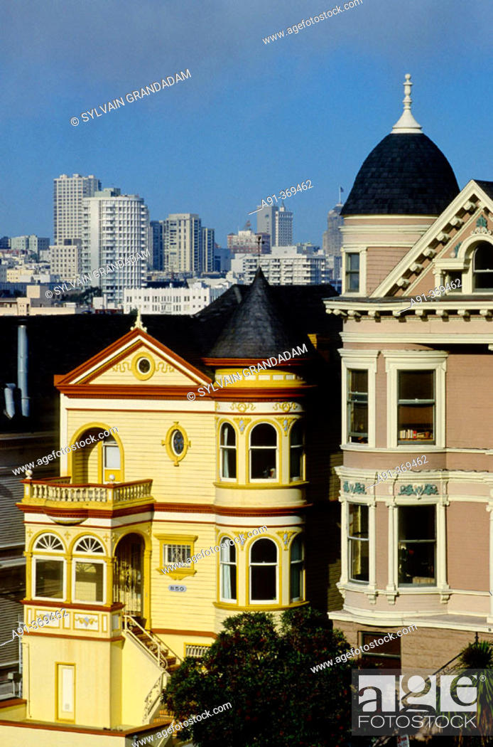 Victorian House Nicknamed Painted Lady Alamo Square San Francisco Stock Photo Picture And Rights Managed Image Pic A91 369462 Agefotostock