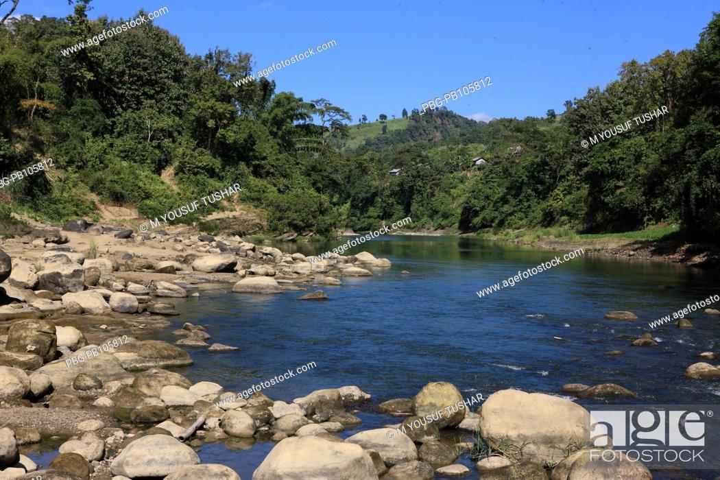 Stock Photo: Natural view of the Sangu River at Thanchi Bandarban, Bangladesh December 2009.
