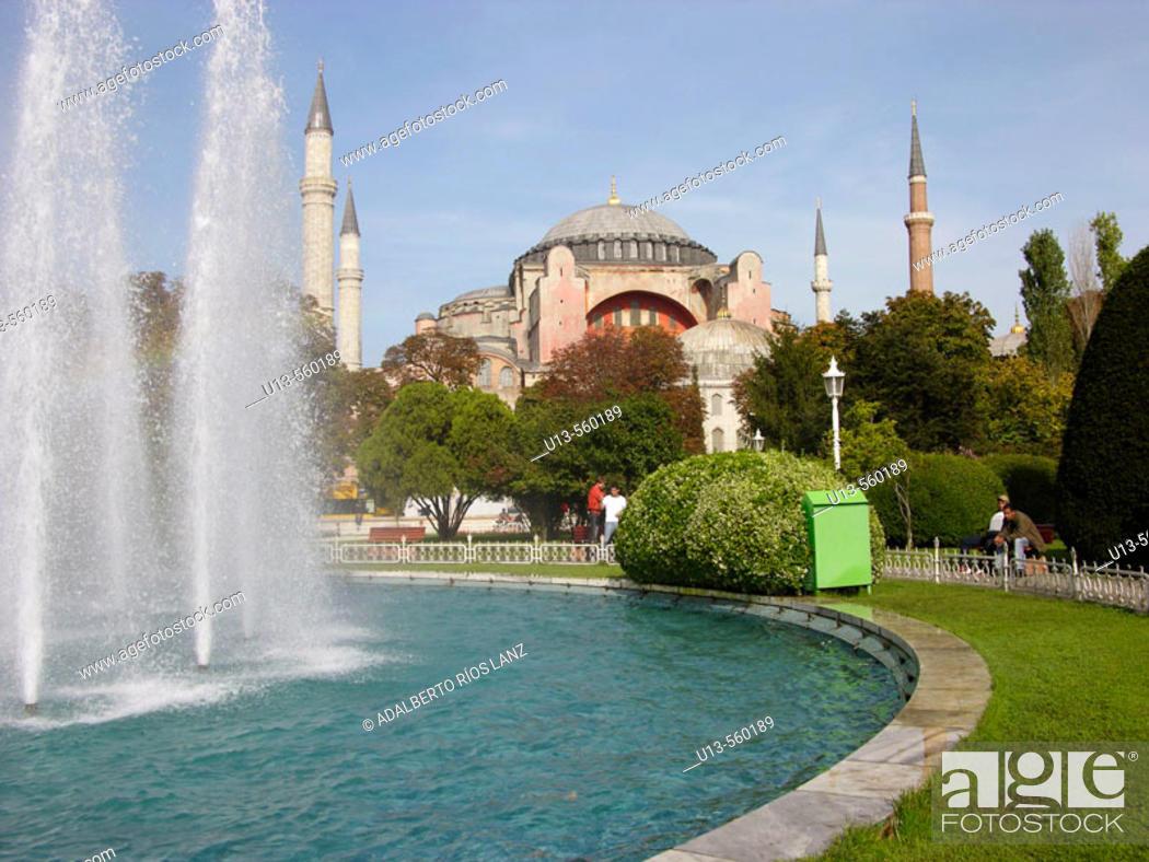 Stock Photo: St. Sophia mosque, Istanbul. Turkey.