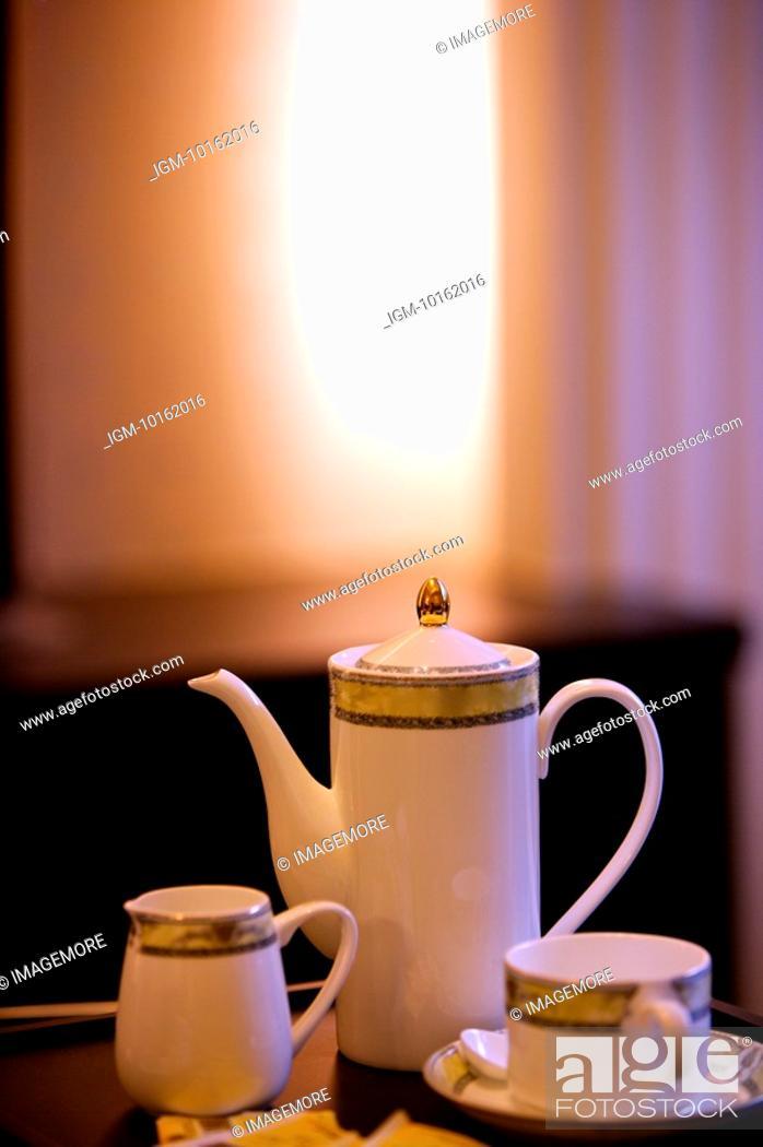 Stock Photo: Tea Set, Close-up.