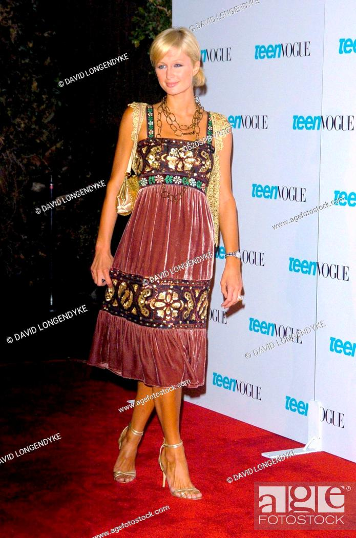 86eb357b46b3e5 Stock Photo - Paris Hilton at arrivals for TEEN VOGUE Young Hollywood Issue  Party