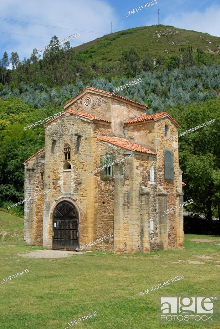 Stock Photo: Church of San Miguel de Lillo Asturias.