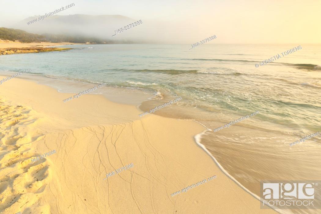 Stock Photo: Beach of Cala Agulla, Capdepera, Majorca, Spain.