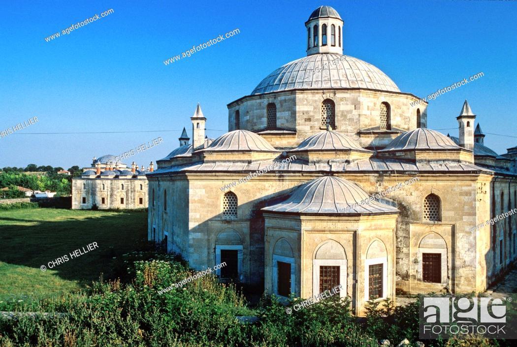 Stock Photo: Beyezit Ottoman Kulliye & Hospital or Welfare Complex (1484-88) Edirne Turkey.