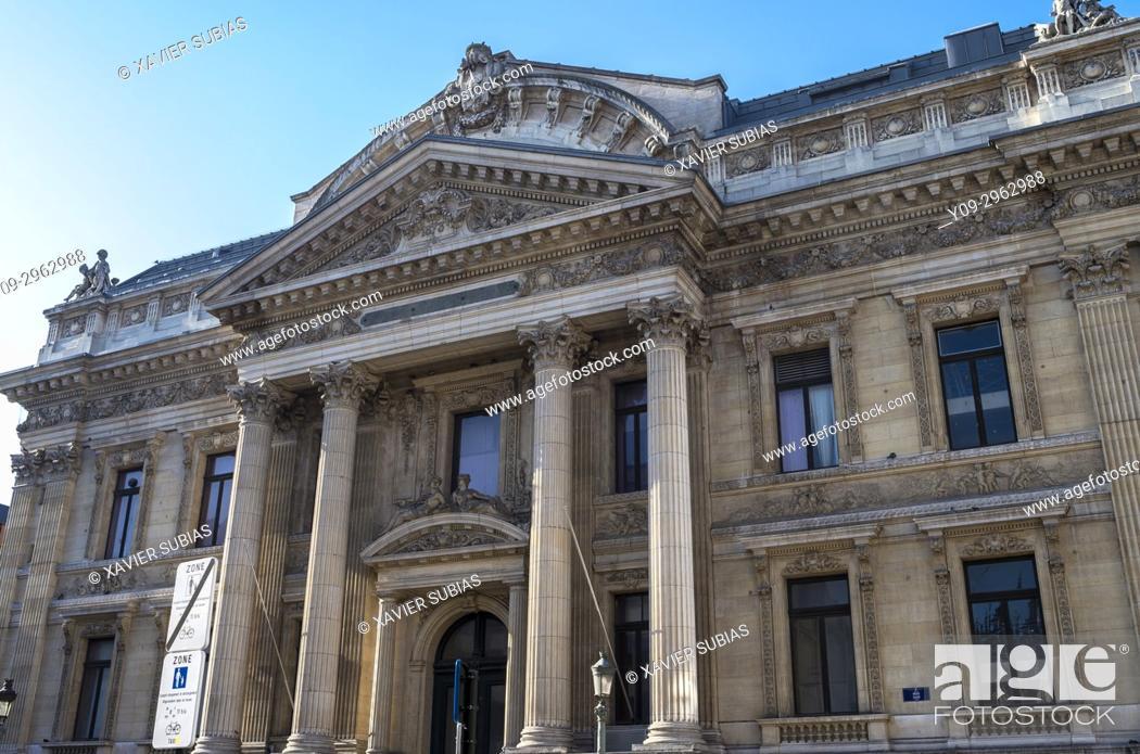 Stock Photo: Brussels Stock Exchange, Brussels, Belgium.