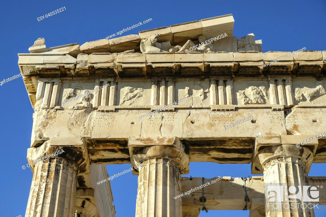 Stock Photo: The Acropolis in Athens, Greece.