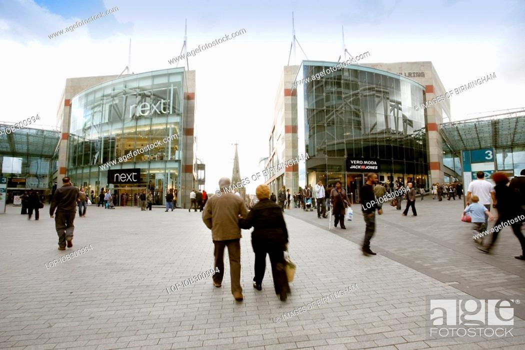 Stock Photo: England, West Midlands, Birmingham, The New Birmingham Bull Ring Shopping Centre, the largest retail regeneration project in Europe and the UK's third most.