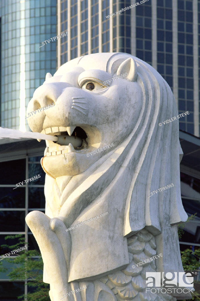 Imagen: Asia, Fountain, Holiday, Landmark, Merlion, Singapore, Asia, Statue, Tourism, Travel, Vacation,.