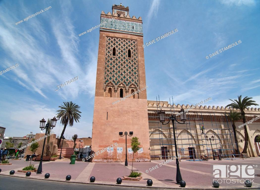 Stock Photo: the Kasbah Mosque of Marrakech, Morocco.