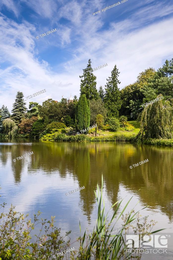 Stock Photo: A lake at Sandringham House at Sandringham Estate in Norfolk , England , Britain , Uk.