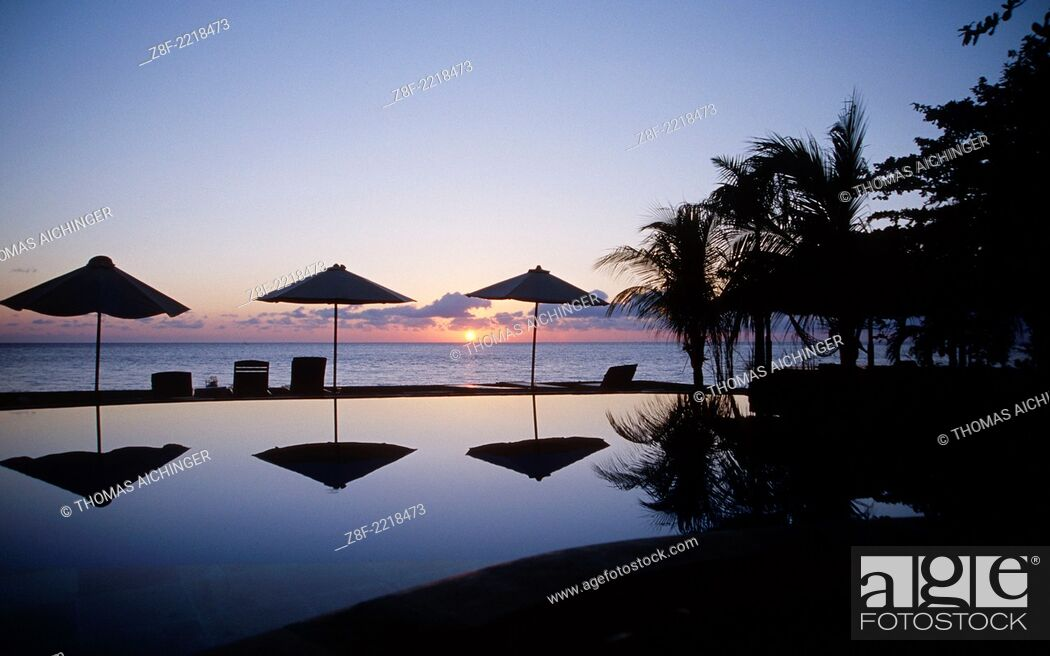 Stock Photo: sun rise Tulamben, Bali, Indonesien.