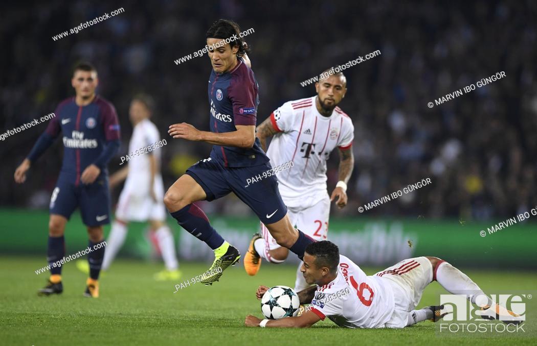 Thiago Fcb Versus Edinson Cavani Paris Saint Germain