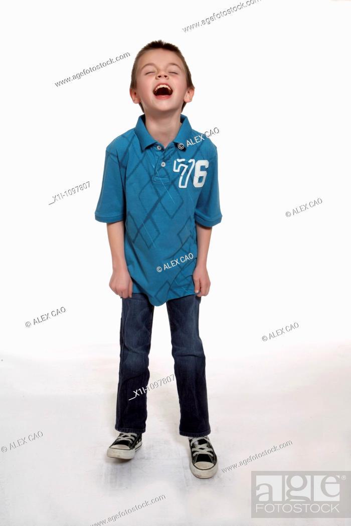 Stock Photo: Boy laughing.