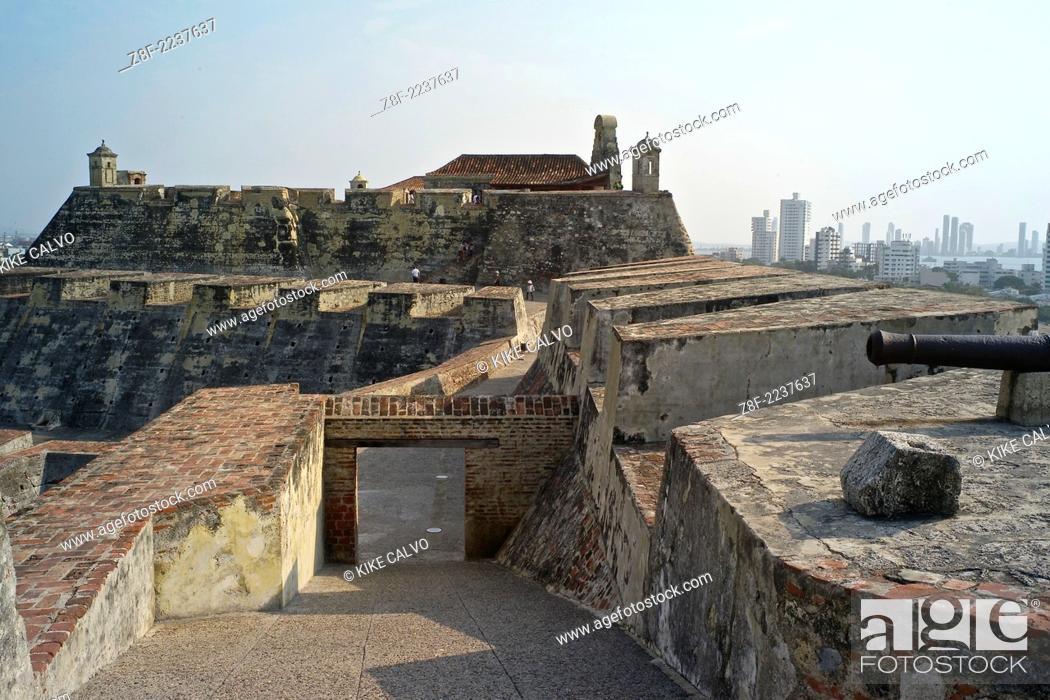 The Historic Spanish Fortress Castillo De San Felipe De Barajas